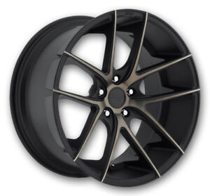 18 Niche Targa M130 Concave Black Staggered Wheels Fits Acura Chevrolet Honda
