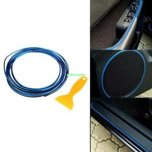 5m Blue Flexible Car Styling Interior Molding Trim Decor Strip Gap Filler Kit