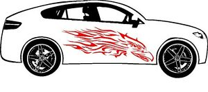 Tribal Eagle Flames Decal Graphic Vinyl Side Car Truck