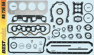 Chrysler 301 331 354 Poly Full Engine Gasket Set kit Best Head intake 1955 58