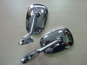 0037 Chrome Fender Door Back Mirror Pair Peugeot 504 404 403 304 203 1955 1983