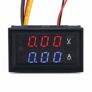 Drok 0 28 led Dc0 100v 10a Digital Voltmeter Ammeter 2in1 Multimeter 12v 24v
