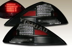 Fit For 2003 2004 2005 Honda Accord 2dr Coupe Black Tail Lights