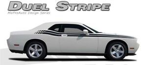 2018 2019 Dodge Challenger Dual Strobe Side Body 3m Vinyl Stripe Graphic Decal