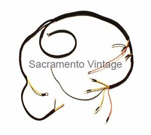 Ford 1933 1934 Usa Dash Cowl Engine Wiring Harness 4 Cyl Termnls On Amp Gauge