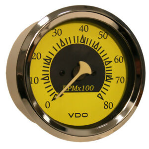 Vdo Allentare Yellow Blue 8000rpm 3 3 8 85mm Outboard Tachomet 333 14758
