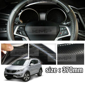 Carbon Steering Wheel Cover Glossy Urethan 370mm For Kia 2011 2013 Sportage R