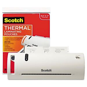 Scotch Thermal Laminator Value Pack letter New
