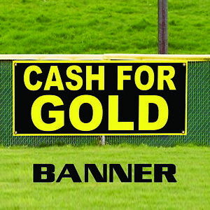 Cash For Gold Advertising Promotion Vinyl Banner Sign Pawn Shop Coins Jewelry