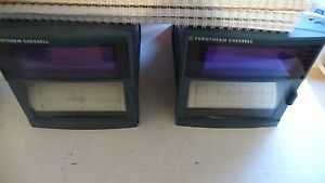 Eurotherm Chessell Lot Of 2 4103c Strip Chart Recorder Manuel