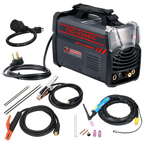 Tig 220dc 220 Amp Tig Torch Stick Arc Dc Welder 110 230v Dual Voltage Welding