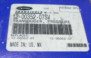 Carrier Pressure Transducer Transicold 12 00352 07sv For 69nt40 69nt20