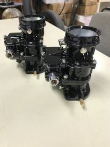 2 Brand New 1932 Ford Roadster Coupe Black Chrome Stromberg 97 Carb Carburetors