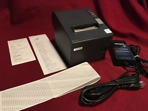 Epson Tm t88iv Pos Serial Thermal Receipt Printer M129h W ps 180 Power Supply