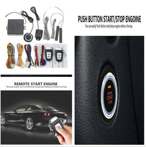 Auto Car Security Start System Vibration Alarm Keyless Entry Push Botton Remote