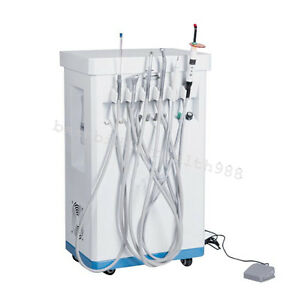 Portable Dental Delivery Treatment Cart Unit Mobile 4h compressor Curing Light
