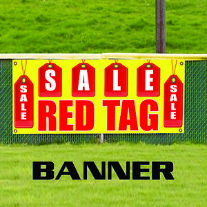 Red Sale Tag Promotion Business Advertising Vinyl Discount Retail Banner Sign