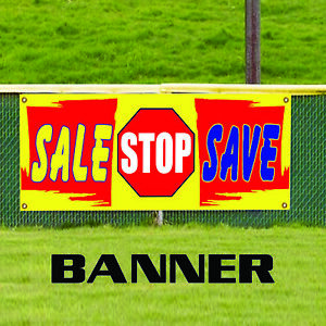 Sale Stop Save Business Advertising Promotional Retail Vinyl Banner Sign