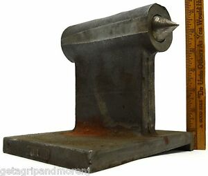 Vintage Lathe Tailstock For parts repair No 117 Heavy Steel 13 Lbs 5x7x6