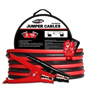 Car Vehicle Battery Jumper Cables 6gauge 16 Feet Heavy Duty Car Jump Start Cable