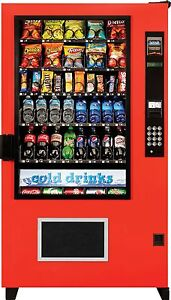 Ams Glass Front Combo Bottle snack Vending Machines Brand New The Outsider usa