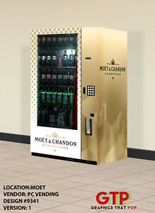 Moet Chandon Champagne Vending Machine 6oz 12 15 16 24oz Can Bottles