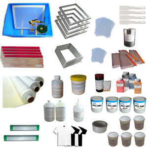 4 Color Silk Screen Printing Materials Kit Best Value Package All Tool Included