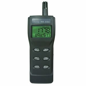 Co2 Air Quality Meter 9999ppm Temperature Humidity Rh Dp Wbt Portable