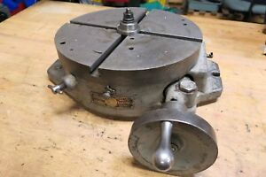 Troyke Model Bh 15 15 Horizontal Rotary Table Bridgeport Milling