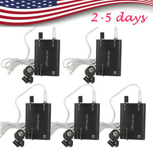 5x Usa Led Head Light Lamp For Dental Medical Surgical Loupes Long Lifetime Fda