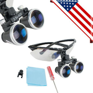 Usa Dental Medical Surgical Loupes 2 5x420mm Optical Glass Loupe Magnifier Loupe