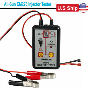 Usa Ship All Sun Em276 Injector Tester 4 Pluse Modes Fuel System Diagnostic Scan