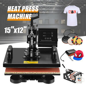 5 In 1 15 x15 Combo T shirt Heat Press Machine Digital Transfer Sublimation Mug
