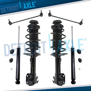 Front Rear Complete Strut Set Shocks Sway Bar Link For 07 11 Toyota Yaris