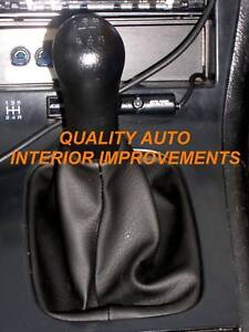 New Black Interior Shift Gear Boot Cover Fits 89 94 Nissan 240 Sx S13 Shifter