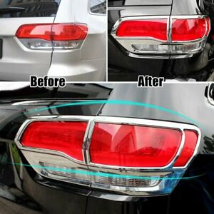 Chrome Rear Tail Light Lamp Cover Trim For Jeep Grand Cherokee 2014 2015 2016