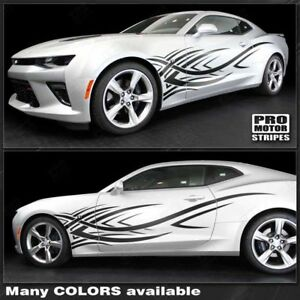 Chevrolet Camaro 2016 2018 Tribal Style Side Stripes Decals choose Color