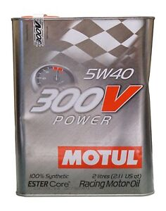 Motul 300v 0w15 0w20 0w40 5w30 5w40 10w40 20w60 Racing Motor Oil 2l Dented