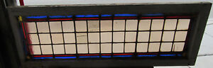 Antique Stained Glass Transom Window 48 X 17 Architectural Salvage