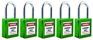 Personal Safety Lockout Padlocks High Security Set Of 5