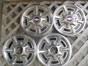 Chevrolet Chevy Pickup 15 In Truck 4 4 Hubcaps Wheel Covers Wheels Center Caps