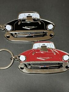 57 1957 Chevy Hot Rod Keychain Great Detail