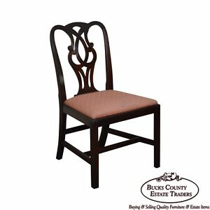 Baker 1940s Mahogany Chippendale Style Side Chair