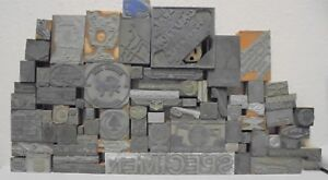 Lot Of 75 Vintage Cuts Printing Block Letterpress Blocks