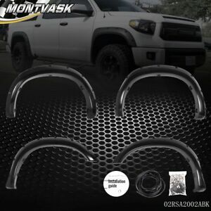 For 07 13 Toyota Tundra Pocket Style Riveted Bolt Fender Flares Wheel Covers