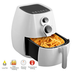3 5l Electric No Oil Air Fryer Temperature Control Timer With 6 Cooking Presets