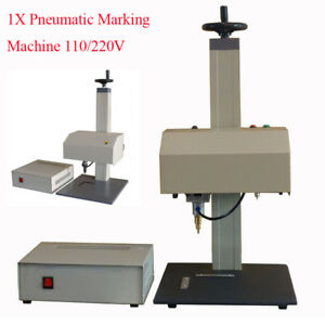 High Quality Pneumatic Nameplate Sign Metal Marking Tagging Machine Clear Plate