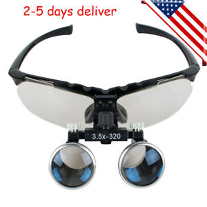 Dental 3 5x Medical Binocular Loupes 320mm Magnifier Magnifying Optical Glasses