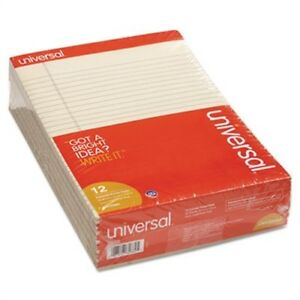 Colored Perforated Note Pads 8 1 2 X 11 Ivory 50 Sheet Dozen
