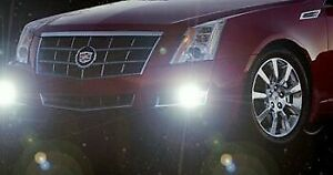 White Led Halo Fog Lamps Driving Fog Light Kit For 2008 2013 Cadillac Cts
